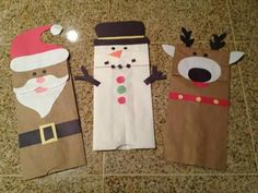 Christmas puppets/Crafts Paper bag/puppets/titeres/ navidad