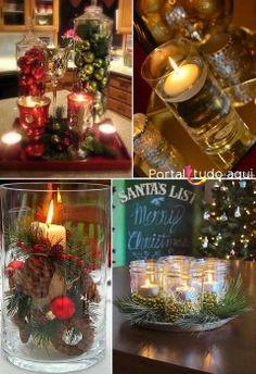 decoracao-criativa-barata-para-natal-com-velas-e-vidros