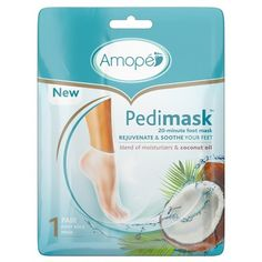 Merchandise Amope Pedimask Foot Masks - Coconut Oil A Silver Cufflink Can Carry Any Darkis Coconut Oil Nails, Foot Detox Soak, Pedi Perfect, Smooth Feet, Foot File, Homemade Face Masks, Relaxed Hair, Feet Care, 1 Oz