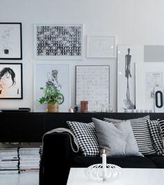 Black and white flat