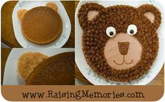 An easy-to-make Teddy Bear cake. Perfect for a Teddy Bear Picnic themed Party. An easy-to-make Teddy Bear cake. Perfect for a Teddy Bear Picnic themed Party. Diy Teddy Bear, Teddy Bear Cakes, Teddy Bear Birthday Cake, Picnic Themed Parties, Picnic Birthday, Bear Party, Diy Cake, Cake Tutorial, Cupcake Cakes