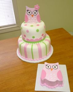 Too Cute- Must find a way to make for Chace's bday! Owl Cake