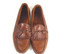 Mens leather loafers. #Mens Dress Shoes  #kiltie #tassel loafers