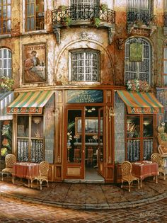 Le Petit Bistro - Counted cross stitch pattern in PDF format