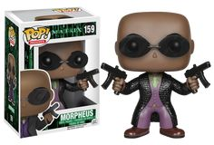 "The Matrix - Morpheus Pop! Vinyl Figure  ""You have to let it all go, Neo. Fear, doubt, and disbelief. Free your mind."" - Morpheus In a dark future ruled by domineering sentient robots, mankind has been captured in a simulated reality known as ""The Matrix"", engineered by the robots to harness their bioelectricity and thermal energy. Now you can add Morpheus, Neo's inspirational Mentor and captain of the Nebuchadnezzar - to your Pop! Vinyl ..."