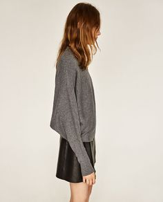 Image 3 of BATWING SLEEVE SWEATER from Zara
