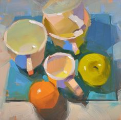 Carol Marine's Painting a Day: A Little Extra Color--I like intense color, myself....