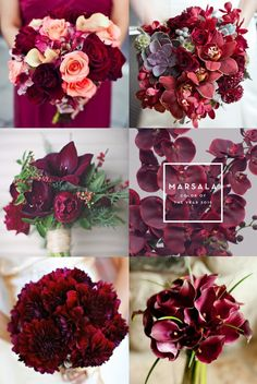 45 best burgundy and marsala wedding color ideas for fall brides 18 Vintage Wedding Flowers, Fall Wedding Flowers, Fall Wedding Colors, Wedding Bouquets, November Wedding Flowers, Burgundy Wedding Theme, Red Wedding, Autumn Bride, Flower Centerpieces
