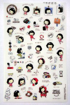 Cute Cooky Plastic Stickers From Korea  Brown by worldofkawaii