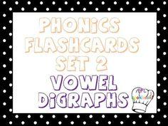 Vowel digraphs flashcards!