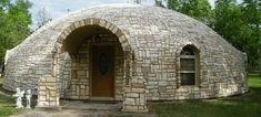 Monolithic Dome Homes: Owned by Karen and Dan Tassell of Magnolia, Texas, this home has a diameter of 53', height of 18', living area of 2200 sq. ft and loft with 425 sq. ft. This fabulous dome home has a beautiful stone exterior and a well designed back up power system.