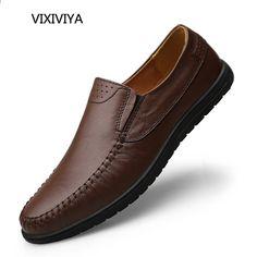 buy popular d448c bc31a Zapatos de moda mocasines de cuero genuino 2018 zapatos casuales de los  hombres de verano plataforma