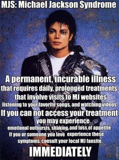 This Is Me If I Don't Watch Listen  Or Look At MJ I Have this like every single day LOL Moonwalker 4 life