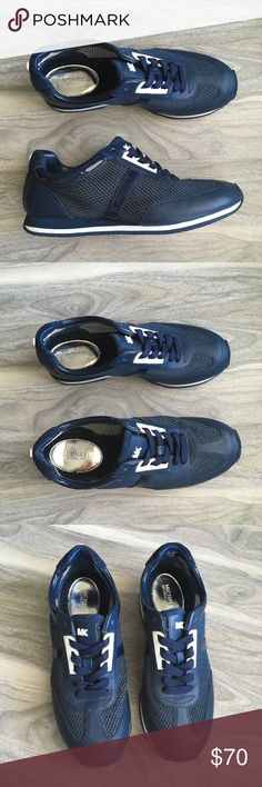Michael Kors blue sneakers 6 NWT Michael Kors blue sneakers 6 NWT. Brand new. Perfect condition. Will come without box. Leather textile upper. It is a mesh material so you could see through. Please inspect photos carefully. Feel free to ask any questions Michael Kors Shoes Sneakers