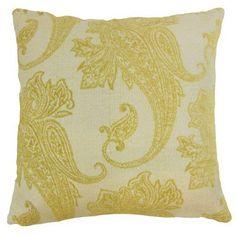 "The Pillow Collection Galia Paisley Throw Pillow Cover Size: 18"" x 18"", Color: Lichen"