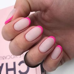 Want some ideas for wedding nail polish designs? This article is a collection of our favorite nail polish designs for your special day. Read for inspiration Stylish Nails, Trendy Nails, Fancy Nails, Cute Nails, Pink Tip Nails, Nails Decoradas, Wedding Nail Polish, Gel Nails At Home, Oval Nails