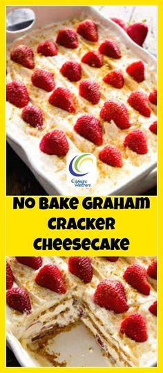 Weight Watchers No Bake Graham Cracker Cheesecake | weight watchers cooking