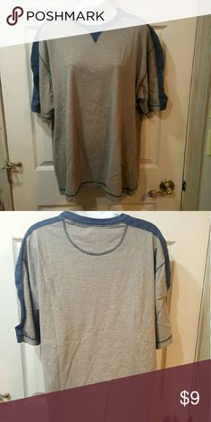 Mens 2 toned tee. Redhead Tan with navy accents.  Like new.  Size L Shirts Tees - Short Sleeve