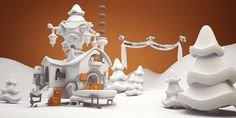 I was tasked with modelling, rigging, animating and rendering a Christmas Ecard…