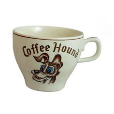 Retro 1950's Coffee Hound Dog Cup Lady and the Tramp