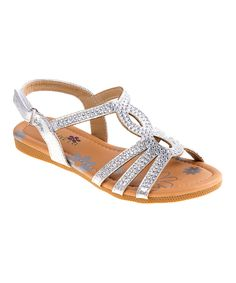 Take a look at this Petalia Silver Stud-Accent Sandal today!
