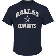 Dallas Cowboys Big & Tall Heart & Soul III T-Shirt - Navy