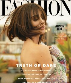 Actress Alison Brie flaunts her back on the August 2018 cover of FASHION Magazine. Captured by Max Abadian, the brunette stunner wears a Mary Katrantzou coat… Alison Brie, Beautiful Jewish Women, Fashion Magazine Cover, Magazine Covers, Beauty Magazine, Dark Skin Tone, Mary Katrantzou, Amy Winehouse, Beauty Industry