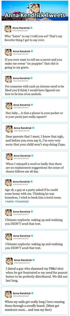 and now I need a twitter account to follow Anna Kendrick...