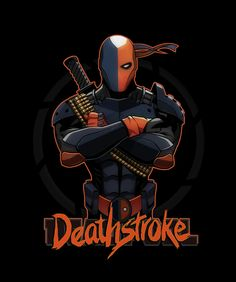 """I'm Deathstroke"""" by A Deathstroke parody of that famous picture of Deadpool. who is a parody of Deathstroke. A sorta reverse/counter parody Dc Deathstroke, Deathstroke The Terminator, Comic Villains, Comic Book Characters, Dc Comics Art, Marvel Dc Comics, Deadpool Pictures, Batman Universe, Dc Universe"""