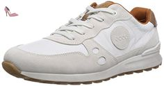 Ecco  CS14Men's, Sneakers basses homme - Blanc - Weiß (Shadow White/White/WhiteSUE/U.Run.50153), 42 EU - Chaussures ecco (*Partner-Link)