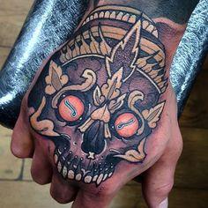 Not the greatest photo but today's hand job on luke! Asian Tattoos, Hot Tattoos, Skull Tattoos, Unique Tattoos, Beautiful Tattoos, Body Art Tattoos, Sleeve Tattoos, 4 Tattoo, Sick Tattoo