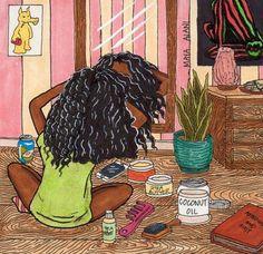Hair Drawing Afro Ideas For 2019 Black Love Art, Black Girl Art, My Black Is Beautiful, Black Girls Rock, Black Girl Magic, Art Girl, Natural Hair Art, Natural Hair Styles, Natural Hair Black Girls