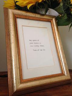 Items similar to Pre-loved, shabby chic, vintage frame with hand-typed quote of your choice on Etsy Anniversary Ideas For Him, First Wedding Anniversary, Paper Anniversary, Typed Quotes, Hand Type, Gifts For Mum, Vintage Frames, Wedding Gifts, Birthdays