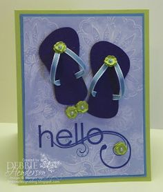 Stampin' Up! My Friend stamp set and free sandals pattern by Debbie Henderson, Debbie's Designs.