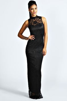 Black lace maxi dress 4ufashion.eu