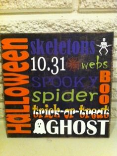 What more can I say...: Halloween Sign