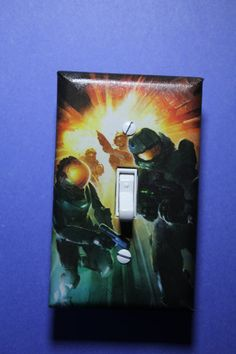 Halo Master Chief Light Switch Plate Cover gamer by ComicRecycled, $7.99