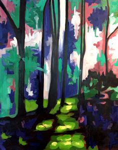 Forest Light Kate Graham Heyd Oil on canvas Watercolor Canvas, Oil On Canvas, Forest Light, Graham, Body Art, Sculptures, Artsy, Drawings, Brushes