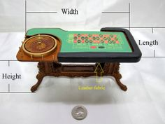 112 Scale Miniature Grande Casino Roulette Table by minifurniture, $98.98