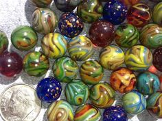 """Dave McCullough's Micro-Mini Marbles 3/8"""" to 7/16"""" Done on the old Vitro Pee Wee Machine at Jabo,  Reno OH Early 1012"""