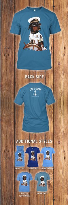 Just in time for summer, check out the all new Captain Crusoe tees, available here for a LIMITED time only: http://teespring.com/captain-dachshund