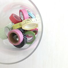 Use a bowl to display and store your washi tapes https://chicchicfindings.etsy.com