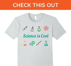 Mens Science is Cool Tshirt for Kids and Adults XL Heather Grey - Math science and geek shirts (*Amazon Partner-Link)
