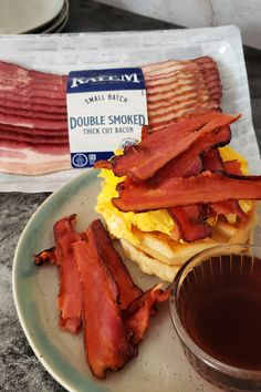 Breakfast? Breakfast for dinner? Make delicious bacon, egg, and cheese waffles with Kayem's new bacon! It's handcrafted and slow cooked in small batches and available in Maplewood & Double Smoked flavors across New England. #ad #KayemBaconLaunch #bacon #food #foodie #breakfastlovers #breakfast #cheese #eggs #yummy #delicious #baconlovers #baconandeggs #baconwaffles #waffles #delish Bacon Waffles, Cheese Waffles, Quiche Recipes, Egg Recipes, Dessert Recipes, Cooking Recipes, Breakfast For Dinner, Delicious Breakfast Recipes, Yummy Food