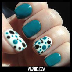 Nail art delicada para as clientes fofas. #inspiração