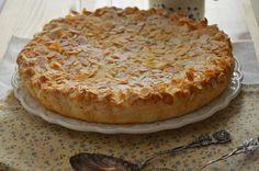pantxineta: tarta de crema y almendras