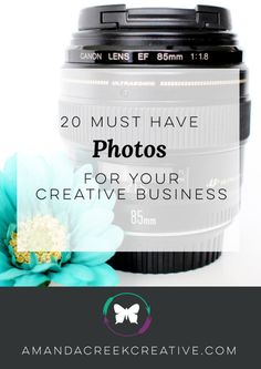 20 Must Have Photos For Your Creative Business - with a little bit of planning we can photograph our own lovely things for Instagram, other social networks, as well as for our website. Taking your time and photographing all of these things in one afternoon will help you focus and get more accomplished.   https://www.amandacreekcreative.com/20-must-have-photos-for-your-creative-business/