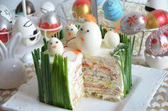 Salad Cake, Scandinavian Food, Sandwich Cake, Easter Dinner, Easter Food, Cake Flavors, Food Humor, Savoury Cake, Antipasto