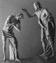 MOCHI, Francesco The Baptism of Christ 1634 Marble, height: 315 cm Palazzo Braschi, Rome.