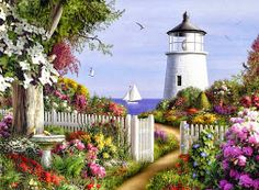paisajes al oleo de flores